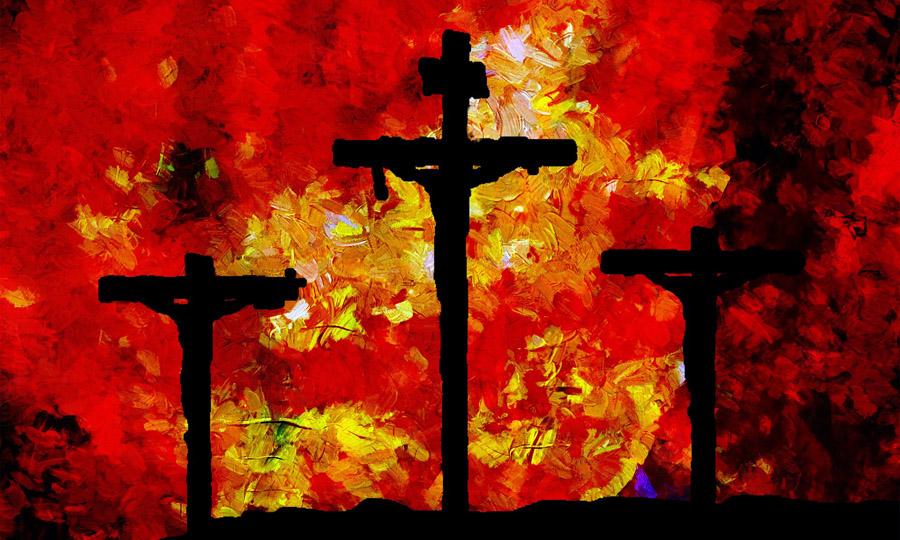 Tableau impression crucifixion