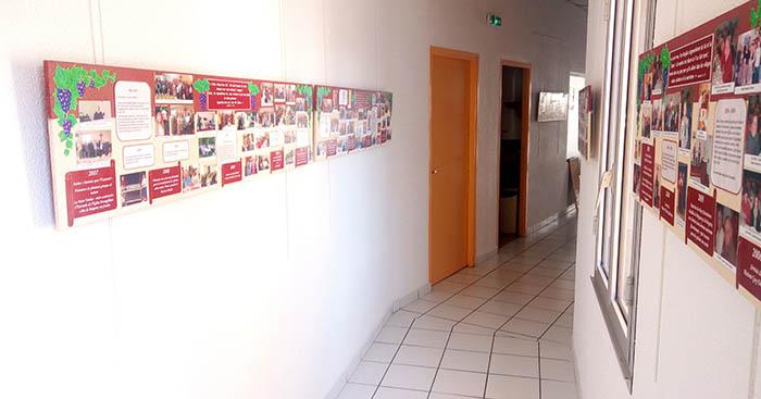 Frise sur le mur
