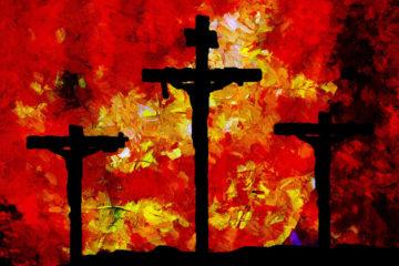 3 croix tableau impressionniste