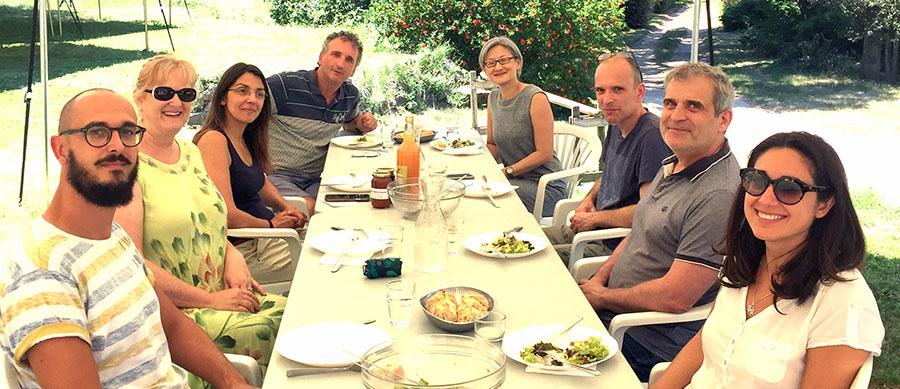 Repas de l'équipe Vitalité au cours du week-end de travail